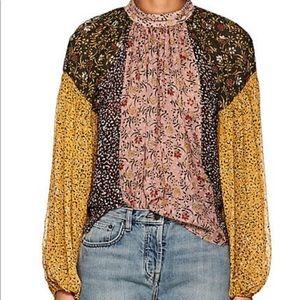 Ulla Johnson silk-blend floral blouse